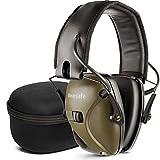 awesafe GF01+ Casco Tiro Electronico Protectores Auditivos Especialmente Diseñados para Cazadores y Tiradores,Ideal para Disparar y Cazar,+Funda de Almacenamiento(Verde)