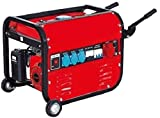 SVE Generador Eléctrico Gasolina con Ruedas Y Asas 15L 5500 Trifásico y Monofásico