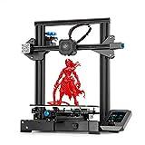 Creality Ender-3 V2 Impresora 3D, FDM Impresora 3D Tamaño de Impresión 220 x 220 x 250 mm Con 32 Bit Silent Motherboard, Fuente de Alimentación Meanwell y Reanudación de Impresión