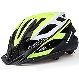 Shinmax Casco Bicicleta con Visera,Certificación CE Ligera Casco Bicicleta,Luz LED Recargable & Cinturón de Seguridad Reflectante Casco Bicicleta Adulto,Montar Ski & Snowboard Unisex Casco MTB 57-62CM