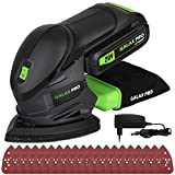 GALAX PRO Lijadora Eléctrica, Lijadora Mouse de 20V Batería de 1.3Ah Recargable, Lijadora de Detalle, Velocidades 12000 OPM con 20 Papeles de Lijas para Decoraciones del Hogar 96723-1