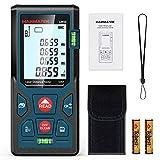 Medidores Laser 50m, Telémetro Láser con 2 Burbujas de Niveles in M/In/Ft, Memorias 99 datos, Pantalla LCD Retroiluminada, Medición de Pitágoras, IP54, Automático Apagado, Calibración Automática