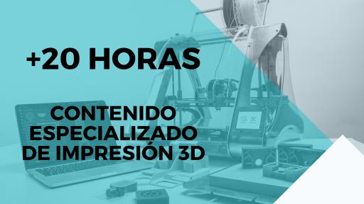 Duración del curso La impresión 3D de 0 a 100